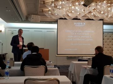 Risto Juvonen of #Hidex presenting Hidex 300 SL and 600 SL LS Counters at our joint Users Seminar in Tokyo #RadioChemistry #LiquidScintillationCounting #LSC...